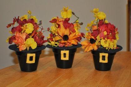 Podzimní doplňky z květináčů
