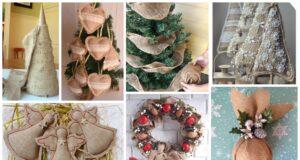 Vánoční jutova dekorace